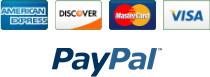 Check out with all major credit cards or Paypal.